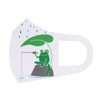 ワカボンドのカエルが雨の中釣りをするでケロ Full Graphic Mask