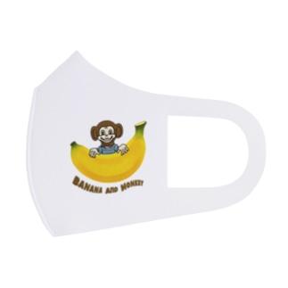 バナナ&モンキー Full Graphic Mask