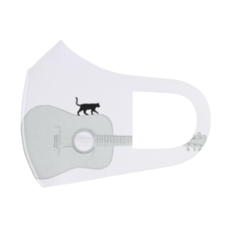 musicshop BOBのネコトギタア Full Graphic Mask