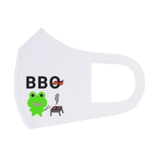 BBQを楽しむカエルくん Full Graphic Mask