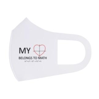 My Heart Belongs to Math Full Graphic Mask