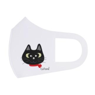 黒猫シリーズ ワンポイントマスク Full Graphic Mask