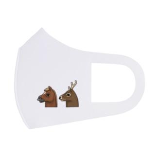 馬と鹿 Full Graphic Mask