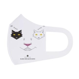 白黒猫ニヤリ2015 Full Graphic Mask