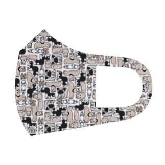 犬ブロック Full Graphic Mask