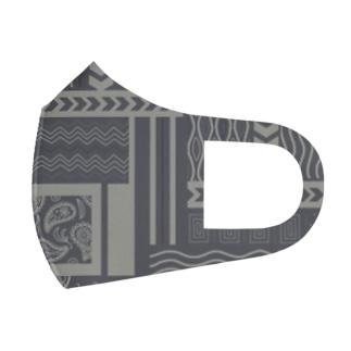 竹条いちいの古着っぽい柄 Full Graphic Mask