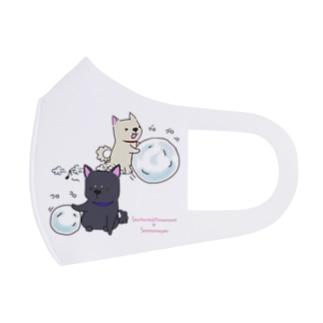 雪遊び2 Full Graphic Mask