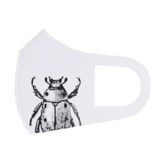 コガネムシ(黒ver.) Full Graphic Mask