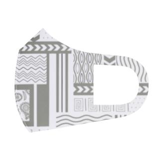 古着っぽい柄 Full Graphic Mask