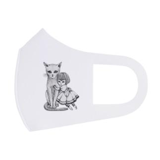 猫と少女 Full Graphic Mask