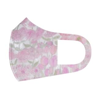 garden dream /pink Full Graphic Mask