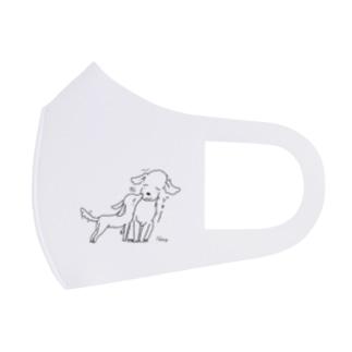 犬さん&犬ちゃん Full Graphic Mask