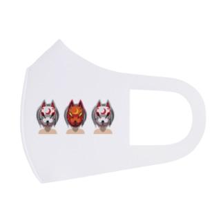狐兄弟 Full Graphic Mask