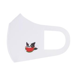 スイカにかぶりつく帆(セイル) Full Graphic Mask