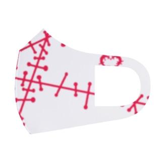 ツギハギ 赤 Full Graphic Mask