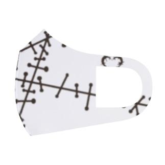 ツギハギ 黒 Full Graphic Mask