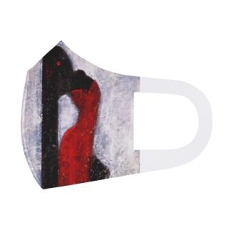 赤く尖った女 Full Graphic Mask