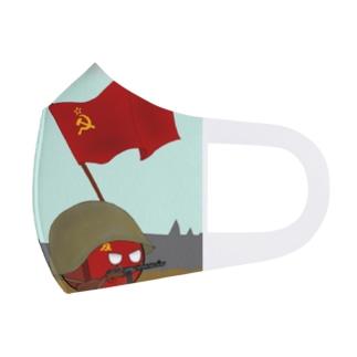 カントリーボール ポーランドボール ソビエト1 Full Graphic Mask