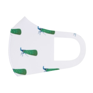 テングビワハゴロモちゃん(青)いっぱい Full Graphic Mask