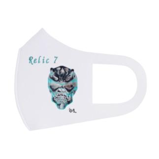 Relic 7 二角鬼スカル Full Graphic Mask