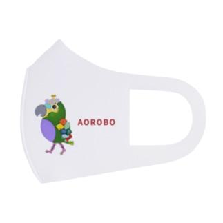 ROBOBO アオボウシインコ Full Graphic Mask