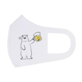 ワカボンドのビール好きなシロクマさん Full Graphic Mask