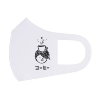 コーヒー大好きコヒィくん Full Graphic Mask