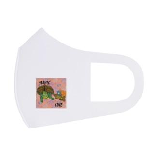 アカミミガメとクサガメちゃん カラフル Full Graphic Mask