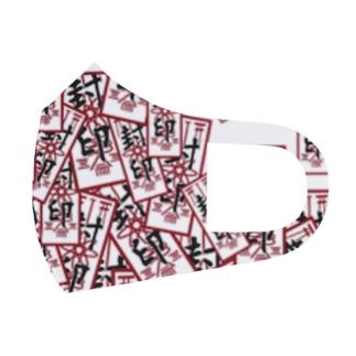 御札 縦赤 Full Graphic Mask
