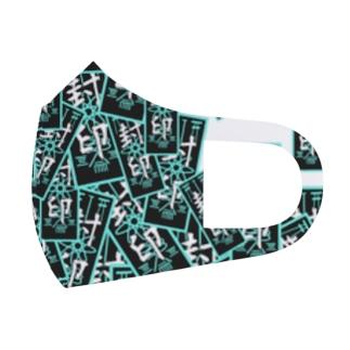 御札 縦緑 Full Graphic Mask