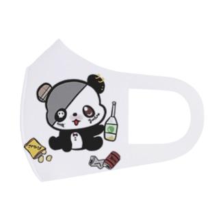 🍾酒パンダ🐼 Full Graphic Mask