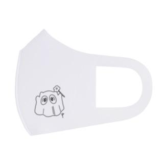 里 (sato)のsimple line ぬのおばけ Full Graphic Mask