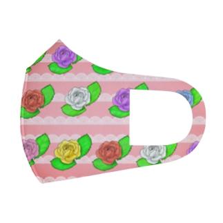 華やか薔薇 Full Graphic Mask