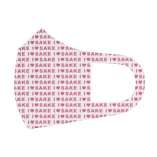 I♥SAKE(ピンク)いっぱいグッズ Full Graphic Mask