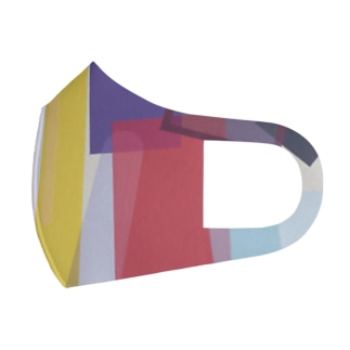 'All fall down' Abstract letter series ル Full Graphic Mask