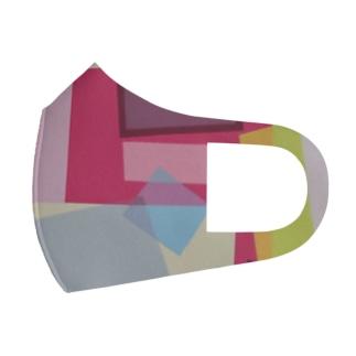 ララ Abstract letter series Full Graphic Mask
