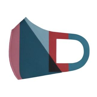 Geometric Letter series - Berry Mint 'U' Full Graphic Mask