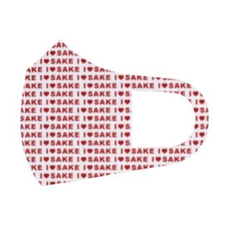 I♥SAKE(赤)いっぱいグッズ Full Graphic Mask