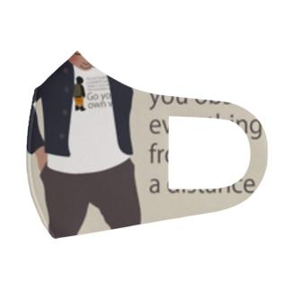 ノルディック帽の少年 Full Graphic Mask