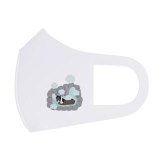 マツザキユキの輓馬ちゃん温泉 Full Graphic Mask