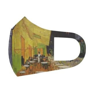 art-standard(アートスタンダード)のゴッホ / 夜のカフェテラス (Terrasse du café le soir) 1888 with Selbstbildnis 1887 Full Graphic Mask