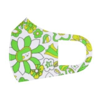 HAL-HIの花こちゃん(蛍光イエグリ) Full Graphic Mask