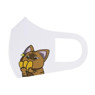 思う屋の価値の分かる猫 Full Graphic Mask
