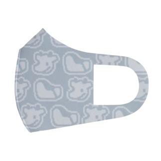 ドット絵シンプル牛 Face Mask