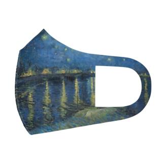 ゴッホ / 『ローヌ川の星月夜(英語版)』1888年9月 Full Graphic Mask