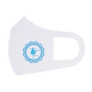 華やかなバレリーナマスク ブルー Full Graphic Mask