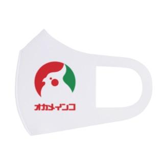 ロゴ風オカメインコ(文字付) Full Graphic Mask