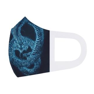 Blue Dragon Full Graphic Mask