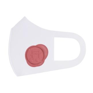 音符のシーリングスタンプ 赤 Full Graphic Mask