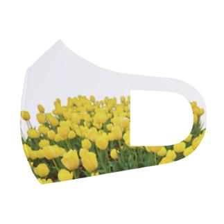 ニムニムのお部屋のきいろい ちうりっぷ Full Graphic Mask
